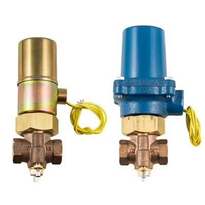 """Bronze . 1/4""""-1/2""""npt<br> Normally Closed & Normally Open<br> Water . Liquids . Oils up to 1200psi<br> Air . Inert Gas to 400psi<br> Manual Open & Closing Speed Adjustments Standard<br> Flow Control Available<br> NEMA 1 Coil Enclosure Standard<br> NEMA 4,5,7 available"""