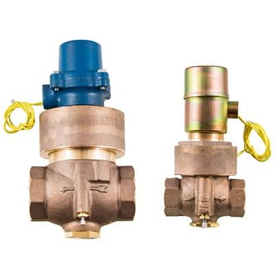 """Bronze . 3/4""""-2""""npt<br> Normally Closed & Normally Open<br> Water . Liquids . Oils up to 1200psi<br> Air . Inert Gas to 400psi<br> Manual Open & Closing Speed Adjustments Standard<br> Flow Control Available<br> NEMA 1 Coil Enclosure Standard<br> NEMA 4,5,7 available"""