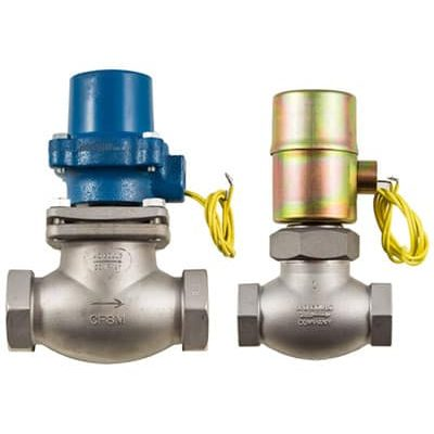 """Stainless Steel . 1/8""""-2""""npt<br> Normally Closed & Normally Open<br> Air & Inert Gas to 400psi<br> Steam to 200psi<br> Water . Liquids . Oils . Corrosive Fluids to 1000psi<br> NEMA 1 Coil Enclosure Standard<br> NEMA 4,5,7 available"""