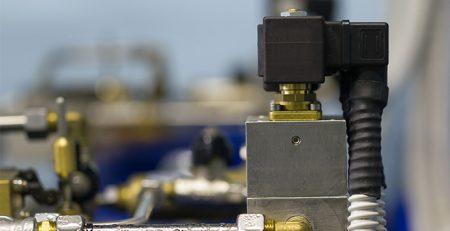 Industrial application of solenoid valves